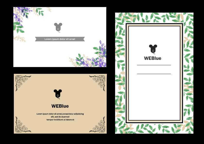 ★ショップカード例 WEBlue